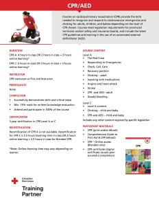Life Skills First Aid - CPR/AED Course