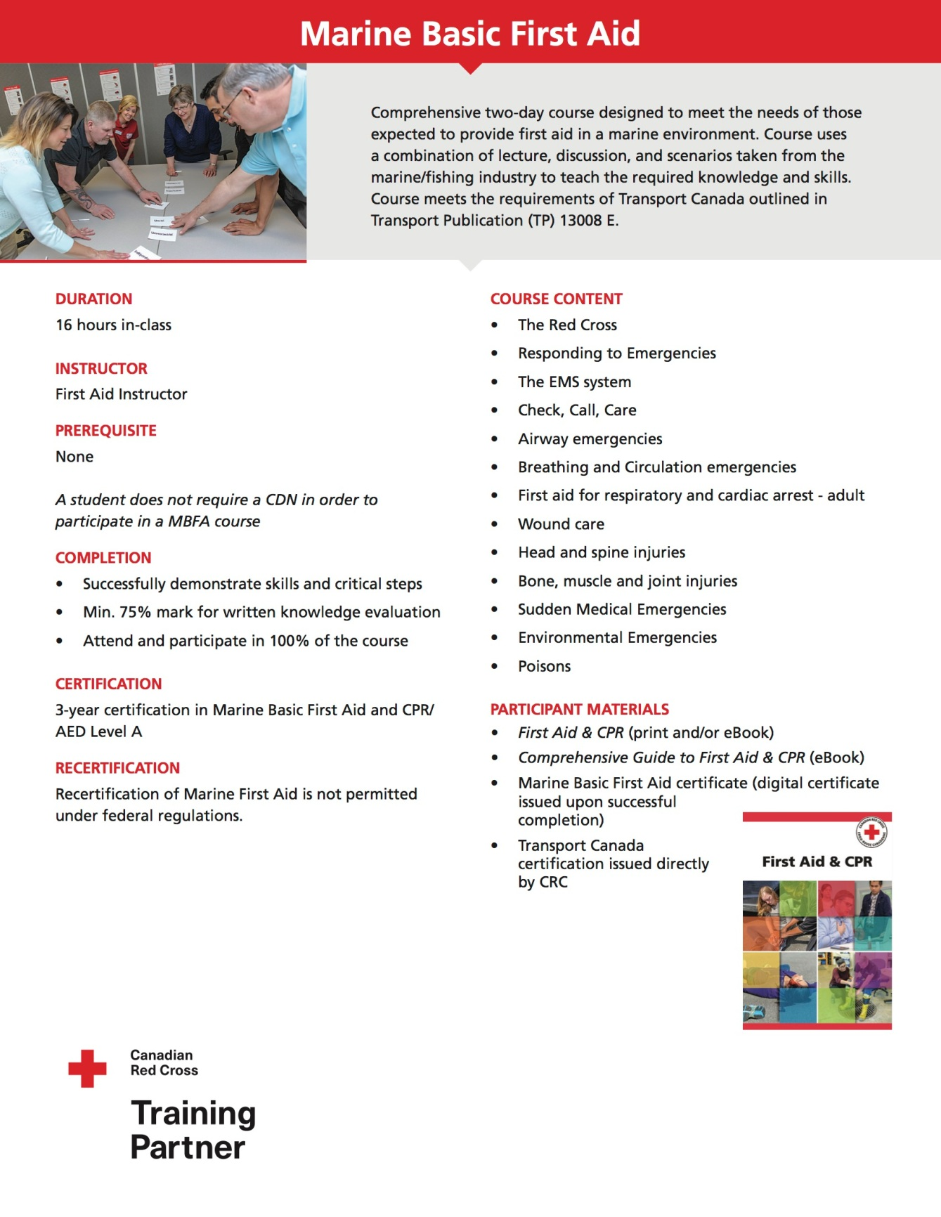 Life Skills First Aid - Marine Basic First Aid Course