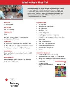 Life Skills First Aid - Marine Basic First Aid Course