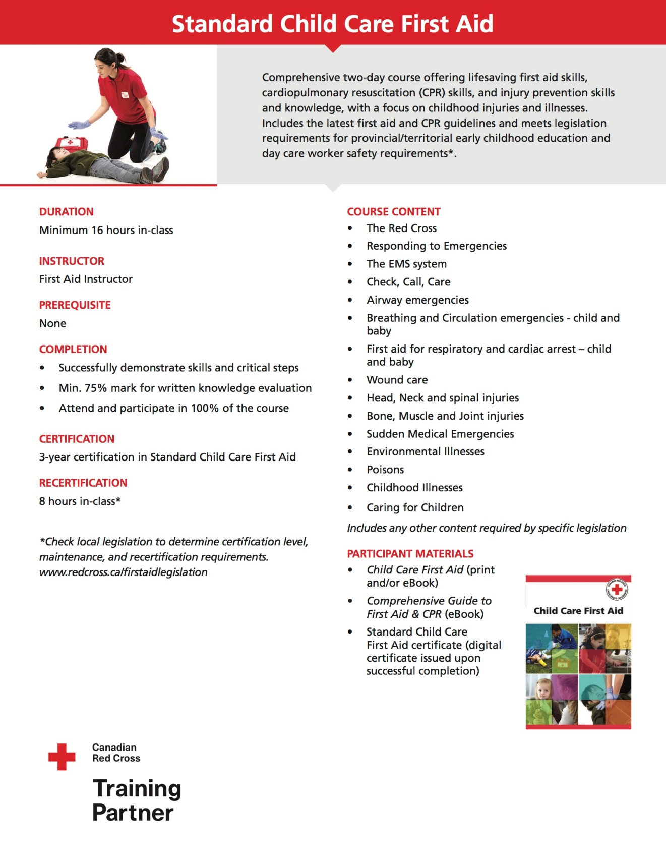 Standard Child Care First Aid LifeSkills First Aid